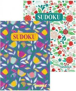2x Sudoku Floral Cover Puzzle Games Books-220 Puzzles A5 Travel Size Books