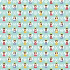 Tessuto stampato con fiocco A4 Natale Fiocchi Di Neve Angeli CM16 fare Glitter Fiocchi