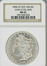 1890-CC,  MS62  GRADED BY NGC, TAIL BAR, VAM 4, TOP 100, PCGS# 87198