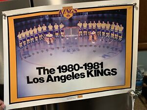Vintage 1980 / 81 LA Kings Team Poster NHL Hockey