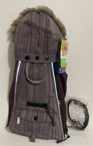 Top Paw Light Up Winter Dog Coat LED Reflective Purple Small NWT + Collar
