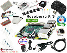 Raspberry Pi 3 Ultimate Starter Kit Wifi HDMI, Breadboard SD Card Class 10 Ultra