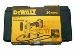 NEW DEWALT DCGG571M1 20V MAX Cordless Li-Ion Grease Gun KIT WITH CASE SALE.