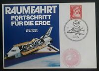 1978 Austria NASA Space Shuttle Cover ties 40g stamp Space Philately cachet