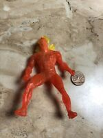 "VINTAGE 1996 MARVEL JOHNNY STORM THE HUMAN TORCH 4"" ACTION FIGURE toy comic"