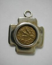 STERLING SILVER PENDANT WIDOW'S MITE COIN