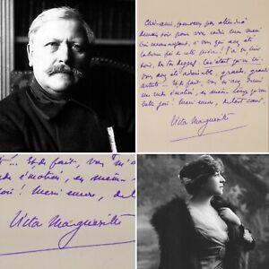 🌓 LAS Victor MARGUERITTE à Berthe CERNY L'Imprévu Comédie Française 1910