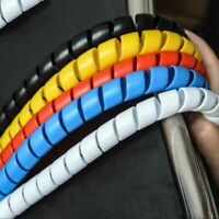 Colorful Wrap Tube Wire Organizer Cable Sleeves Winding Pipe Spiral Wire Casing