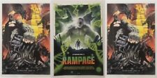 WonderCon 2018 Handout RAMPAGE movie promo poster set THE ROCK Dwayne Johnson
