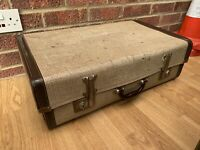 Small Vintage Suitcase  Luggage Storage shabby chic prop Display