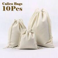 30X Large Cotton Drawstring Storage Bag Toiletry Travel Wash Laundry Sack 082