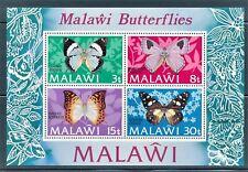 MALAWI 1973 BUTTERFLIES SOUVENIR SHEET OF 4 DIFFERENT SCOTT 202A