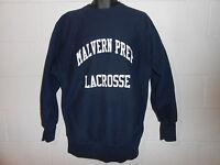 VTG 80s 90s Blue Malvern PA Prep Lacrosse Champion Reverse Weave Sweatshirt 2XL