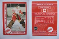 2015 SCA George Gardner Detroit Red Wings goalie never issued produced #d/10