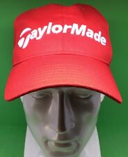Red Authentic Taylormade Golf Burner Baseball Cap Tmax Hat Adjustable R11 Clean