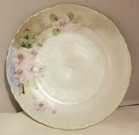 """Vintage Porzellanfabrik Moschendorf Bavaria PM Plate Hand Painted Floral 7 1/2"""""""