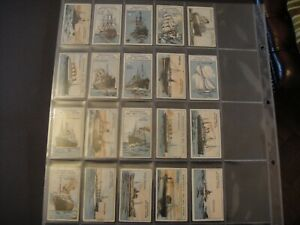 J EDMONDSON TOFFEE LIVERPOOL BRITISH SHIPS SET OF 20  NAVAL MERCHANT LINERS