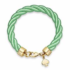 Kate Spade Women's Green Goldtone Charm And Bud Learn The Ropes Bracelet 22-173