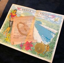 """Vintage """"Order Of The Lock� Panama Canal 1963 Navy Certificate Uss Point Defianc"""