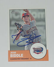 JESSE BIDDLE SIGNED AUTO'D 2012 TOPPS HERITAGE MINORS CARD #127 PHILLIES BRAVES