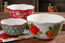 The Pioneer Woman Poinsettia 3 pc Serving Bowl Set