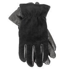 POLO RALPH LAUREN Mens Leather Velvet Gloves Black S (MSRP $68)