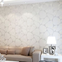 QIHANG Minimalist Abstract Non-woven Pearlescent Sprinkle-silver Wallpaper 5.3㎡