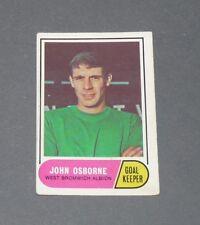 A & BC GUM CARD FOOTBALL ENGLAND 1969 JOHN OSBORNE WEST BROMWICH ALBION BAGGIES