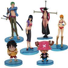 6x One piece Luffy/Robin/Zoro/Nami/Chopper/Mihawk figure Set