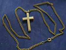 Vintage Cross Pendant With Chain Necklace