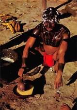 Venezuela Guaica Indian preparing a plantain dish called Carato