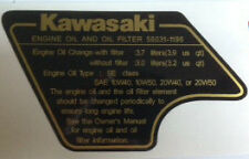 KAWASAKI GPZ1100 GPZ1100A UNI-TRAK aceite y filtro de aceite Calcomanía de advertencia de precaución