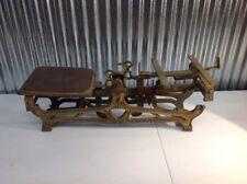 Vintage ~ Cast Iron ~ Balance Beam Scale ~ 5kg ~ Antique ~ Industrial
