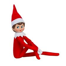 Elf on the Shelf Plush Doll Christmas Tradition Red Blue Eyed Girl Stuffed Toy