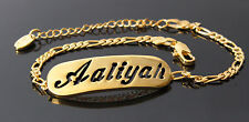 AALIYAH - Bracelet With Name - 18ct Yellow Gold Plated - Gifts For Her