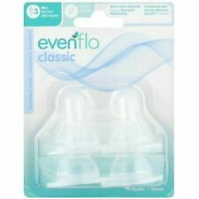 Even Flo Best for Baby 2115214 Classic Medium Flow Clear Silicone Nipples