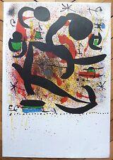 Joan Miro affiche lithographie originale art abstrait abstraction surréalisme