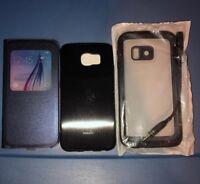 Lot Of 3pc Samsung Galaxy S6 Lifeproof Case, Moshi Case, Original Flip Case