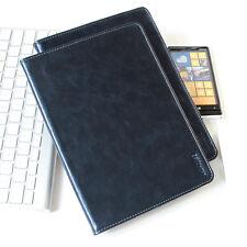 Luxus Leder Schutzhülle für Apple iPad Mini 1 2 3 Tablet Tasche Cover Case blau