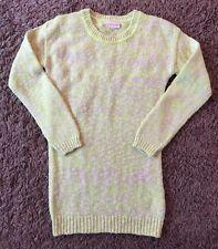 Girls Neon Yellow & White Jumper Age 11-12 Years