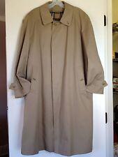 Burberry 40 SHT Mens Beige Trench Coat Jacket Short w/ Nova Check Lining