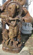 KRISHNA Indien Hindu Steinfigur massiv 95 cm 95 kg Dekofigur Figur Statue Neu
