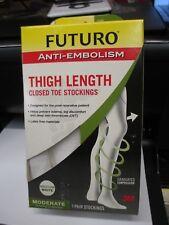 NEW Futuro Anti-Embolism Stockings, Thigh High, Medium Closed Toe Stocking 71065