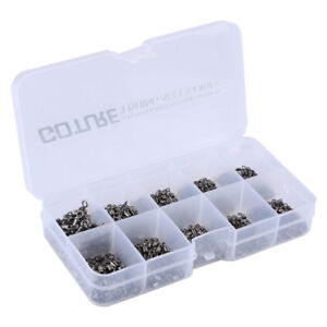 Goture 500pcs Fishing Swivels 4#-12# Rolling Swivel Fish Snap Connector Tackle
