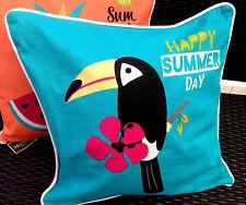 Kissenhülle Kissenbezug mit Reißverschluss Happy Summer Outdoor 100%BW