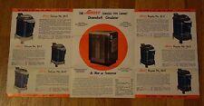 Ashley Downdraft Automatic Wood Heaters Vintage Mid-Century Ad Advertisement