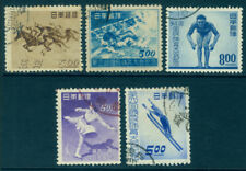 Japan 1948/49  SPORTS - 5 commemorative issues - USED  [1]