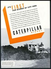 1936 Caterpillar crawler tractor Long Island photo vintage trade ad