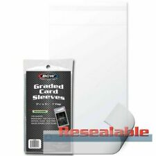 1 Pack of 100 BCW Brand Resealable Graded Card Sleeves Bags fit PSA BGS Slab