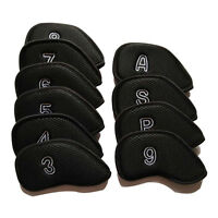 10pcs Mesh Golf Club Head Cover Iron Headcover One-sided Number Embroidered
